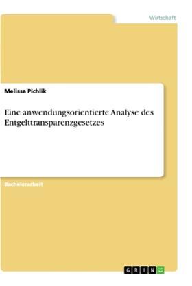 Eine anwendungsorientierte Analyse des Entgelttransparenzgesetzes | Buch | sack.de