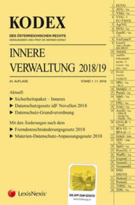 Doralt | KODEX Innere Verwaltung 2018/19 | Buch | sack.de