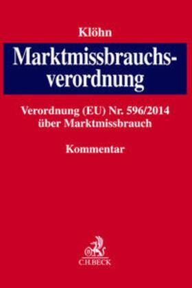 Klöhn   Marktmissbrauchsverordnung   Buch   sack.de