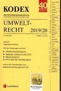 KODEX Umweltrecht 2019/20