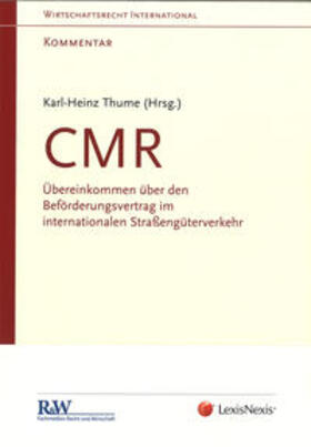 Thume / Thume | CMR - Kommentar | Buch | sack.de