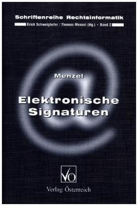 Menzel | Elektronische Signaturen | Buch | sack.de