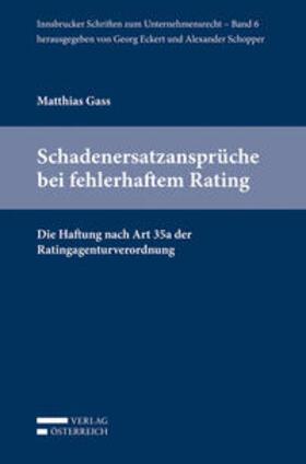 Gass   Schadenersatzansprüche bei fehlerhaftem Rating   Buch   sack.de