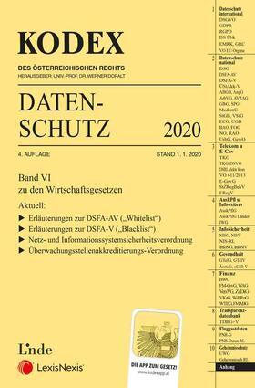 Pachinger / Doralt | KODEX Datenschutz 2020 | Buch | sack.de