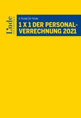 Portele / Portele   1 x 1 der Personalverrechnung 2021   Buch   sack.de