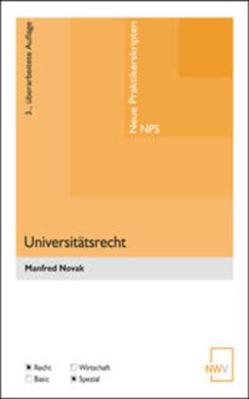 Novak | Universitätsrecht | Buch | sack.de