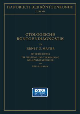 Mayer / Eisinger / Holzknecht | Otologische Röntgendiagnostik | Buch | sack.de