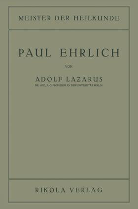 Lazarus | Paul Ehrlich | Buch | sack.de