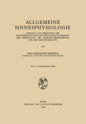 Renqvist-Reenpää | Allgemeine Sinnesphysiologie | Buch | sack.de