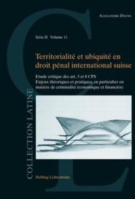 Dyens | Territorialité et ubiquité en droit pénal international suisse | Buch | sack.de