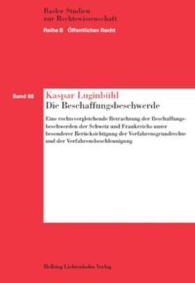 Luginbühl   Die Beschaffungsbeschwerde   Buch   sack.de