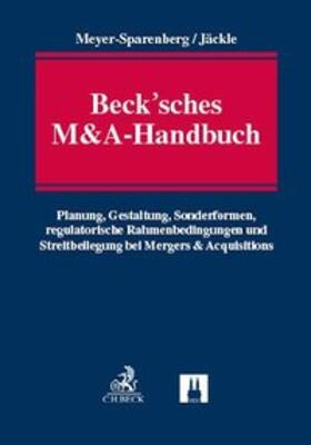 Meyer-Sparenberg / Jäckle | Beck'sches M&A-Handbuch | Buch | sack.de
