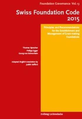 Egger / Sprecher / von Schnurbein   Swiss Foundation Code 2015   Buch   sack.de