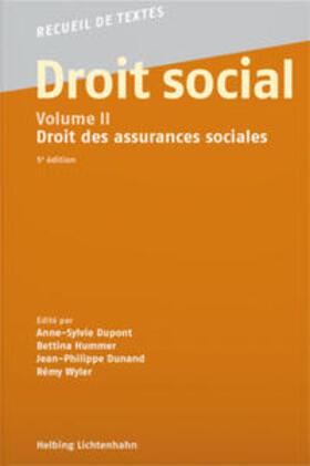 Dunand / Dupont / Hummer | Droit social, Volume II | Buch | sack.de