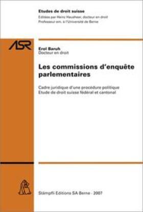 Baruh | Les commissions d'enquête parlementaires | Buch | sack.de