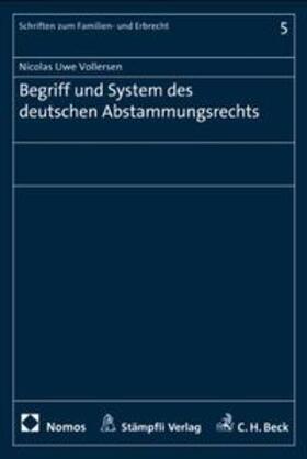 Vollersen | Begriff und System des deutschen Abstammungsrecht | Buch | sack.de