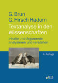 Brun / Hirsch Hadorn |  Textanalyse in den Wissenschaften | Buch |  Sack Fachmedien