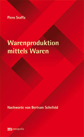 Sraffa   Warenproduktion mittels Waren   Buch   sack.de