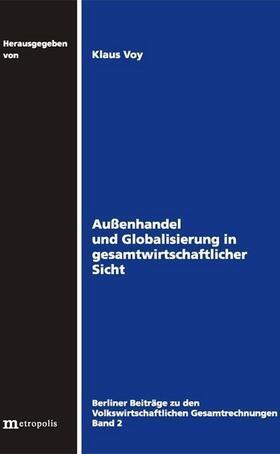 Voy   Außenhandel und Globalisierung in gesamtwirtschaftlicher Sicht   Buch   sack.de