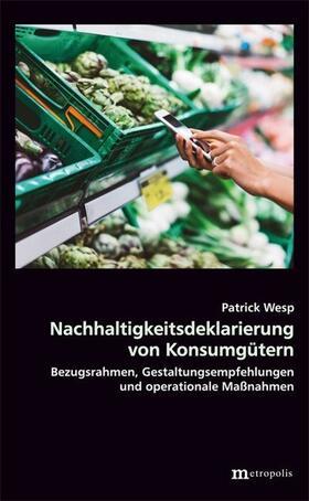 Wesp | Nachhaltigkeitsdeklarierung von Konsumgütern | Buch | sack.de