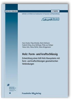 Drexler / Almeida / Deilmann   Holz: Form- und kraftschlüssig.   Buch   sack.de