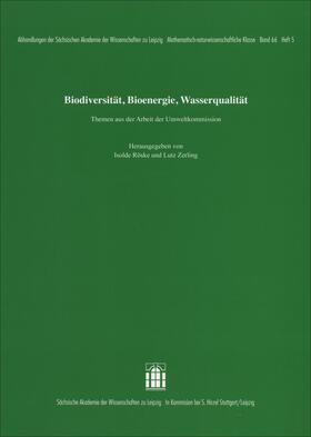 Röske / Zerling | Biodiversität, Bioenergie, Wasserqualität. Themen aus der Arbeit der Umweltkommission | E-Book | sack.de