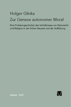 Glinka | Zur Genese autonomer Moral | Buch | sack.de
