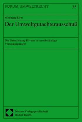 Der Umweltgutachterausschuß | Buch | sack.de