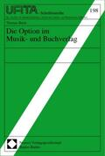 Die Option im Musik- und Buchverlag   Buch    Sack Fachmedien