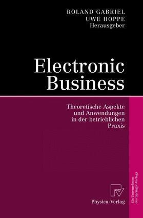 Gabriel / Hoppe   Electronic Business   Buch   sack.de