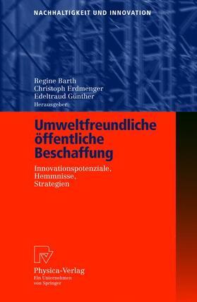 Barth / Erdmenger / Günther | Umweltfreundliche öffentliche Beschaffung | Buch | sack.de