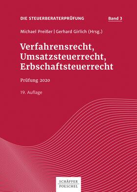 Preißer / Girlich | Verfahrensrecht, Umsatzsteuerrecht, Erbschaftsteuerrecht | E-Book | sack.de