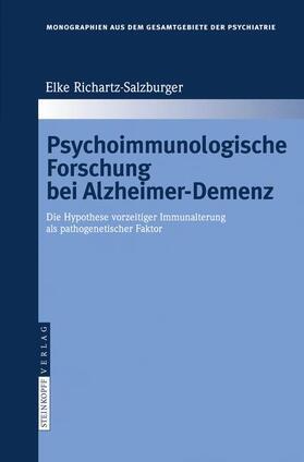Richartz-Salzburger | Psychoimmunologische Forschung bei Alzheimer-Demenz | Buch | sack.de