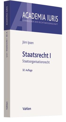Ipsen   Staatsrecht I   Buch   sack.de