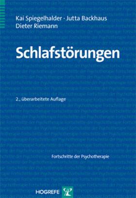 Spiegelhalder / Backhaus / Riemann   Schlafstörungen   Buch   sack.de