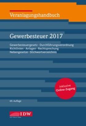 Institut der Wirtschaftsprüfer | Veranlagungshandbuch Gewerbesteuer 2017 | Buch | sack.de