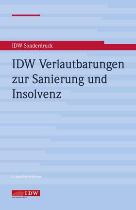 IDW Verlautbarungen zur Sanierung und Insolvenz | Buch | sack.de