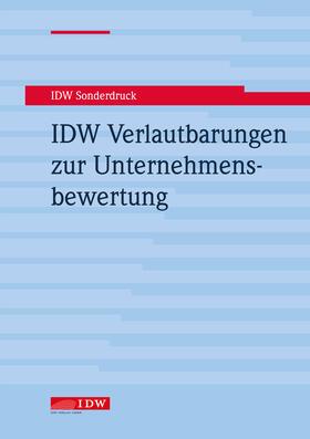 IDW Verlautbarungen zur Unternehmensbewertung | Buch | sack.de
