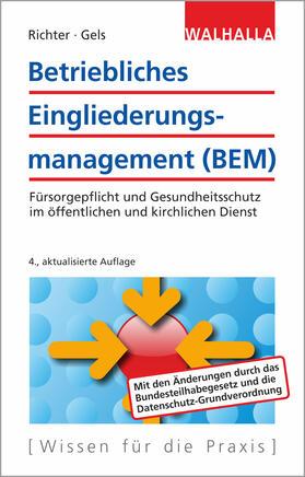 Richter / Gels   Betriebliches Eingliederungsmanagement (BEM)   Buch   sack.de