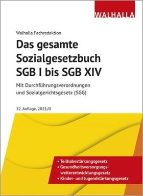 Walhalla Fachredaktion   Das gesamte Sozialgesetzbuch SGB I bis SGB XIV   Buch   sack.de