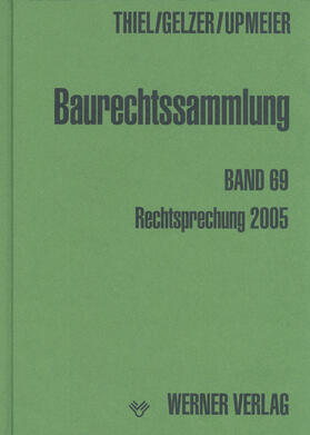 Upmeier / Thiel / Gelzer | Baurechtssammlung | Buch | sack.de