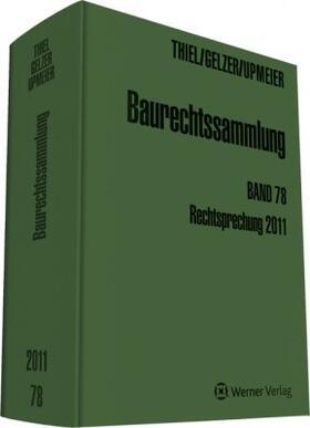 Upmeier | Baurechtssammlung - Band 78 | Buch | sack.de