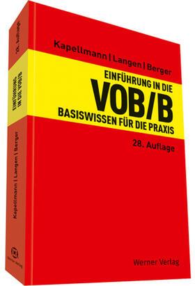 Kapellmann / Langen / Berger | Einführung in die VOB / B | Buch | sack.de
