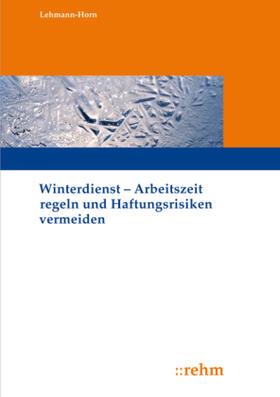 Lehmann-Horn | Winterdienst | Buch | sack.de