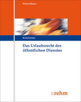 Das Urlaubsrecht des öffentlichen Dienstes | Loseblattwerk | sack.de