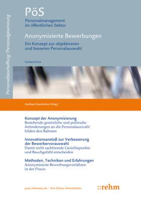 Gros / Gourmelon | Anonymisierte Bewerbungen | Buch | sack.de