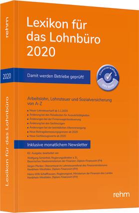 Schönfeld / Plenker / Schaffhausen   Lexikon für das Lohnbüro 2020   Buch   sack.de