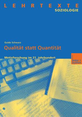 Schwarz   Qualität statt Quantität   Buch   sack.de