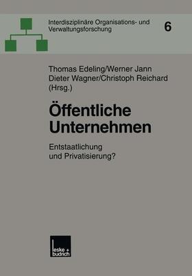 Edeling / Reichard / Wagner | Öffentliche Unternehmen | Buch | sack.de