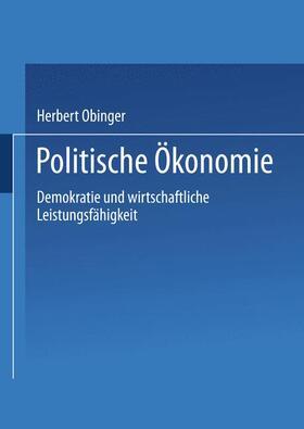 Kittel / Obinger / Wagschal | Politische Ökonomie | Buch | sack.de